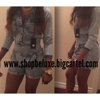 romper jeans button up be'luxe boutique latest fashion