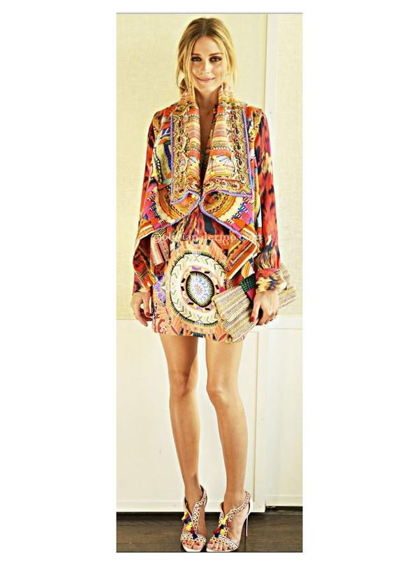 dress olivia palermo shoes bag vest belt