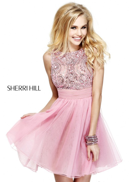 Beaded Embellished Short Cocktail Dress by Sherri Hill [Short Dress by Sherri Hill 11032] - $152.00 : Fashion Cheap Homecoming Dresses for Girls at homecomingdressesfashion.com