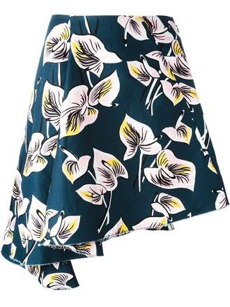 skirt print blue
