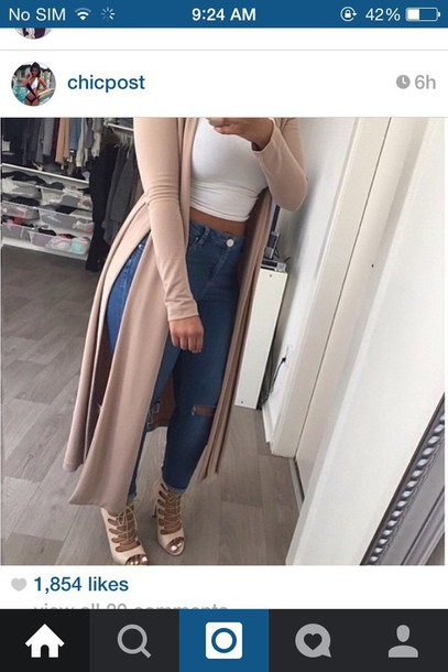 cardigan beige long cardigan