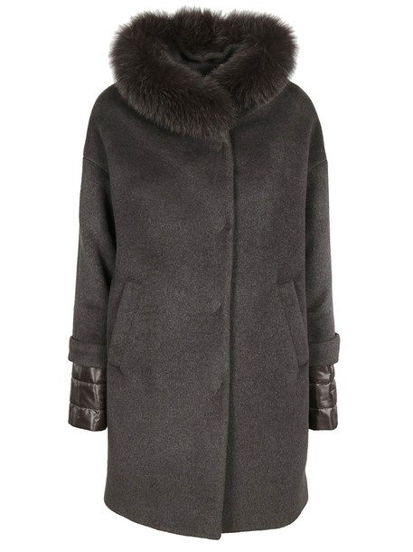 Herno coat fur collar coat fur