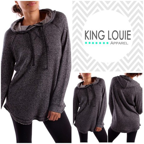 top hoodie classy hipster comfy women hooded top tunic style fashion