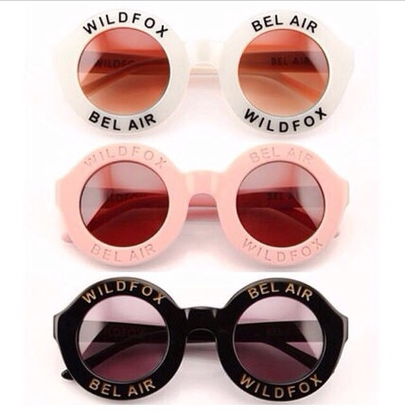 sunglasses white sunglasses black white black sunglasses pink round sunglasses wildfox wild fox pink sunglasses bel air bel airs