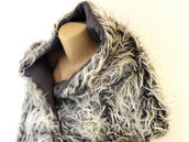scarf,faux fur,gray scarf,fur,fur collar,women fashion,fashion for women,winter outfits,fall outfits,gift ideas,women,etsy