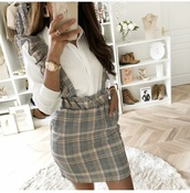 skirt,braces,skirt with suspenders