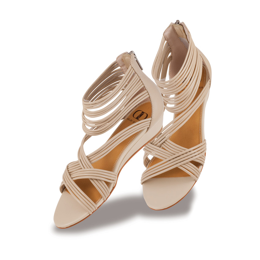 Nude strappy sandals by kelsi dagger