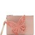 Flossy butterfly-appliqué leather pouch
