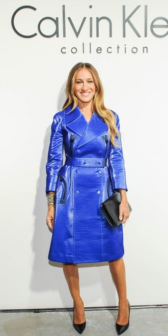 coat coat dress sarah jessica parker fashion week 2014 shoes