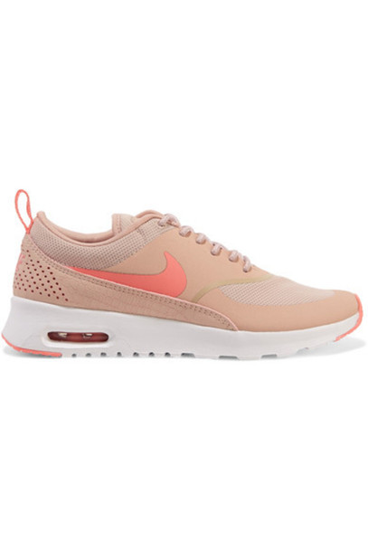 premium selection 36e6a fa77a Nike - Air Max Thea Embossed Leather And Mesh Sneakers - Pink
