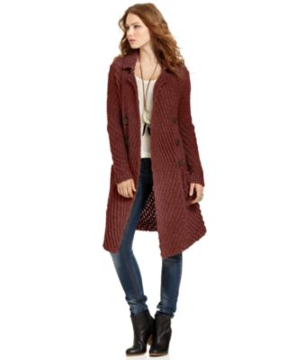 Free People Double-Breasted Plaid Coat - Coats - Women - Macy's