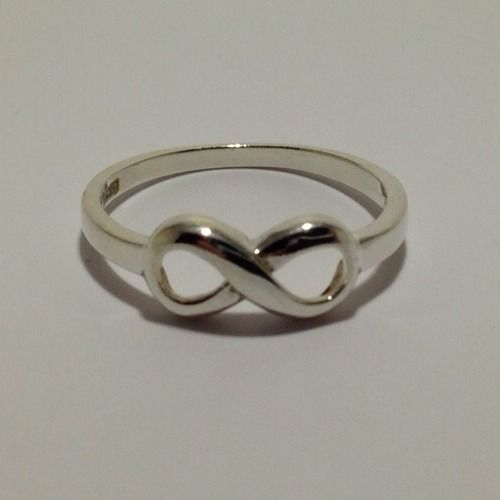 Cute Infinity 925 Solid Sterling Silver Ring Sz 5 | eBay