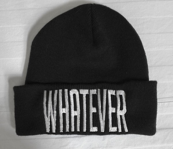 hat whatever swag swag sexy hipster hippie beanie beanie swag black beanie black black and white whatever text