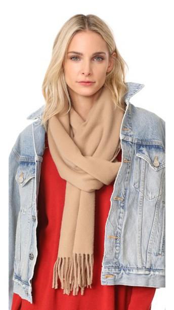 classic scarf wool camel