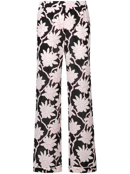 pants palazzo pants women black silk