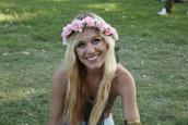 floral headband,pink flowers,hat