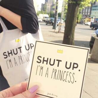 bag yeah bunny shut up im a princes tumblr princess shopping