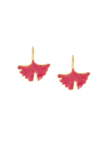 AURELIE BIDERMANN women earrings gold purple pink jewels