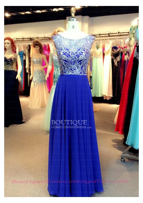 Bateau short sleeve natural 2015 prom dress