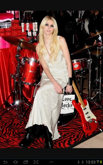 dress white dress black boots taylor momsen
