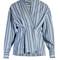 Silvia striped cotton wrap top