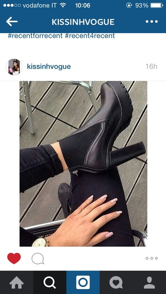 shoes high heels black heels black high heels combat boots boots black boots thigh high boots trendy instagram tumblr weheartit tumblr outfit grunge grunge shoes kawaii grunge boho boho chic girly girl nails fake nails nail polish accessories outfit dress love fashion