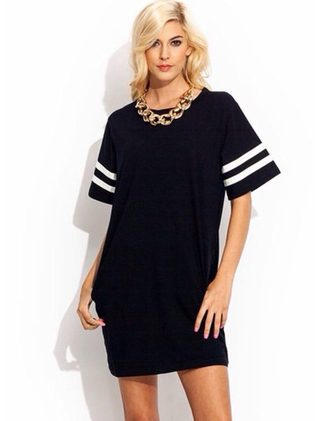 dress black white lines