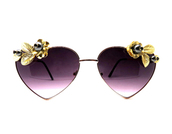 sunglasses,heart sunglasses,ombre,metallic