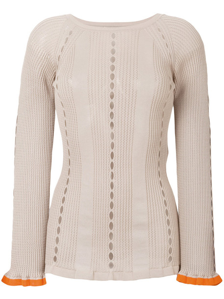 Fendi sweater women nude cotton