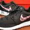 Nike roshe run black white bushel of roses floral print v3 edition custom men & womens
