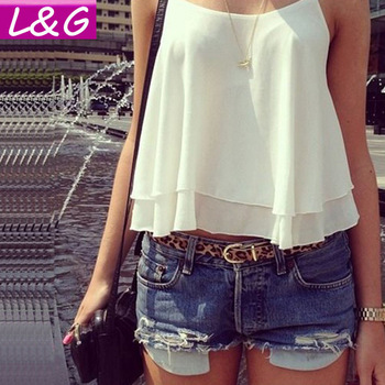 New 2014 Fashion Women Blouses Hot Selling Sexy Spaghetti Strap Chiffon Blusas Vest Spring Summer Casual Shirts Tops Sale 40072-in Blouses & Shirts from Apparel & Accessories on Aliexpress.com