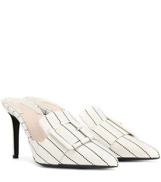 mules white shoes