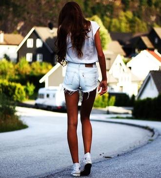 shorts summer outfits tan high waisted shorts