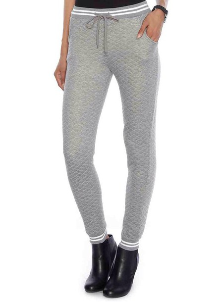 pants quilted black and grey