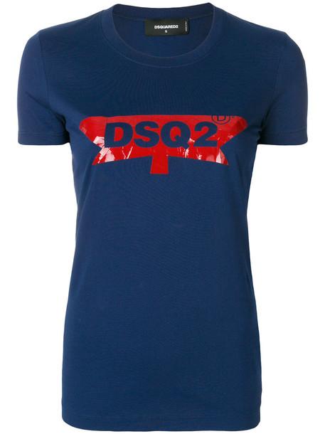 Dsquared2 t-shirt shirt t-shirt women cotton blue top