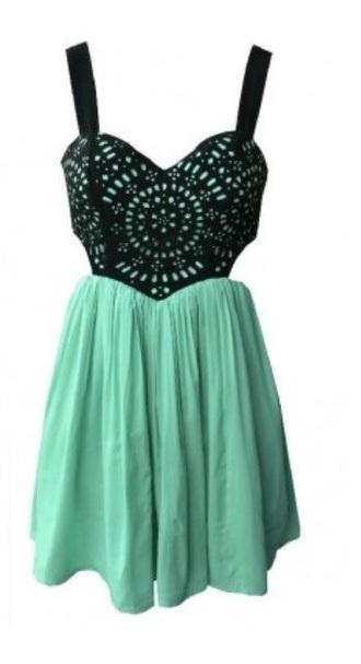 dress turquoise green cutout short mini dress teal dress