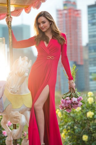 dress miranda kerr red dress maxi dress