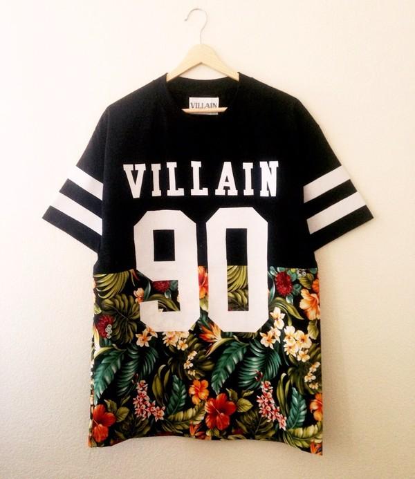 shirt black number