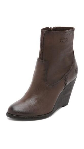 wedge booties short booties charcoal shoes