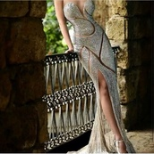 open,slit,dress,silver,crystal,silver crystal sparkly dress long dress spilt