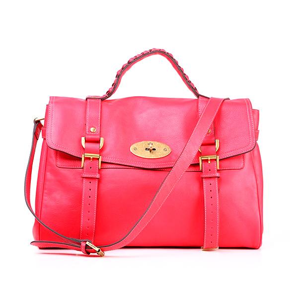 Mulberry women's mini alexa leather satchel bag red sale