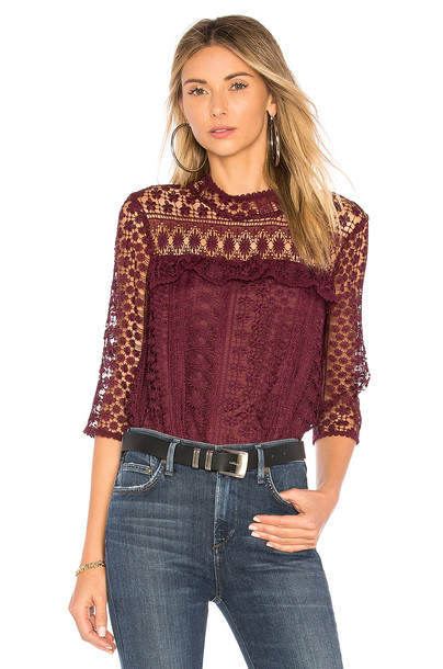 cupcakes and cashmere blouse burgundy top
