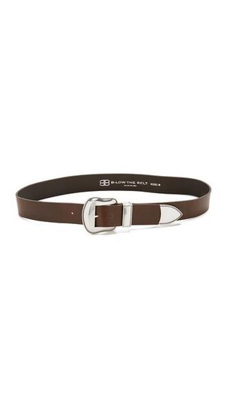 dark belt silver brown