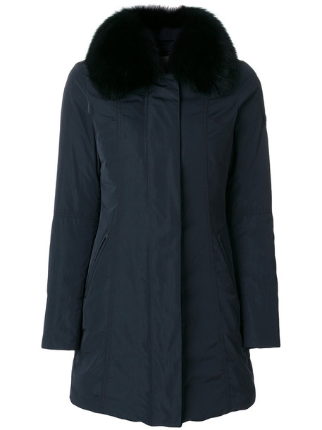jacket fur fox women blue