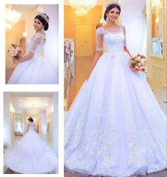 dress long sleeve wedding dress sheer wedding dresses princess wedding dresses vintage lace wedding dress