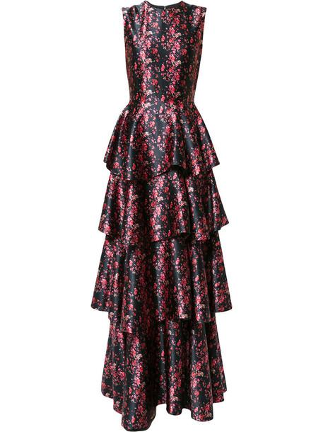 Huishan Zhang dress shirt dress women lace black silk
