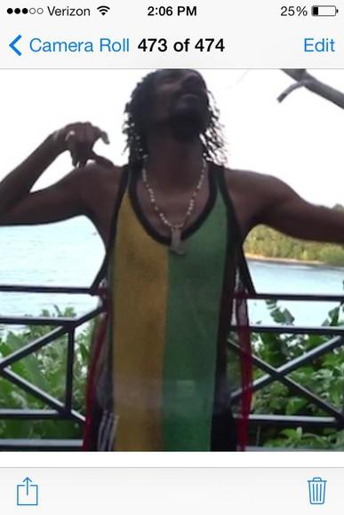 jersey snoop dogg reggae mesh top tank top