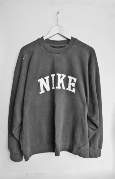 sweater grey large nike