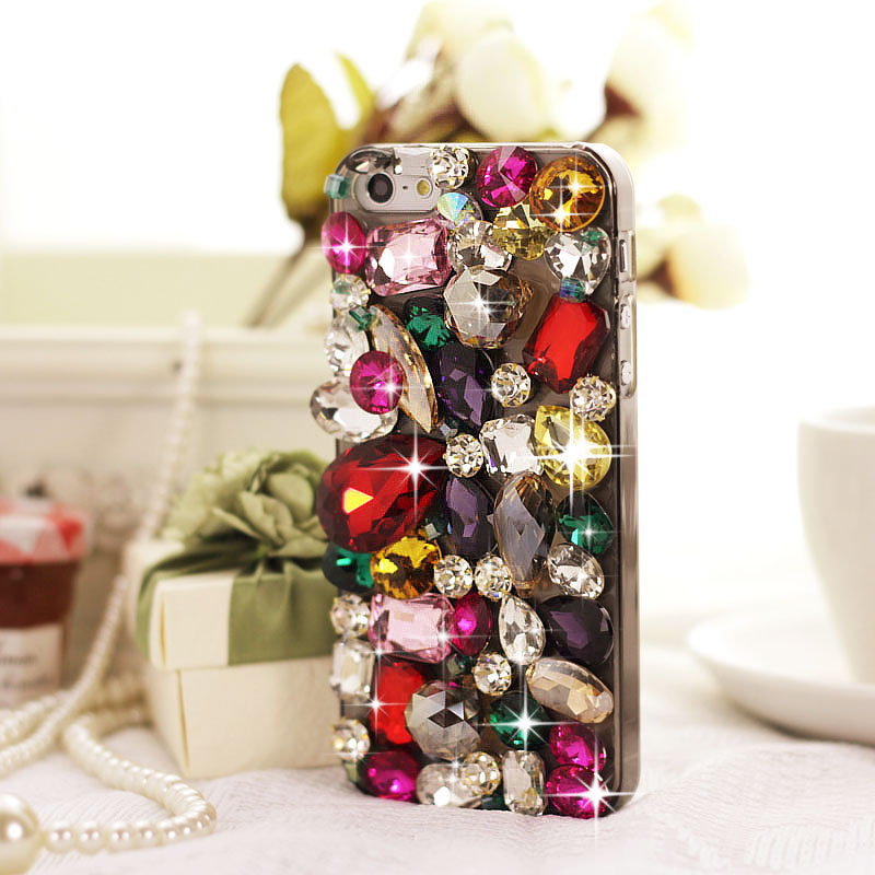 Big Rhinestone and Gem Case for iPhone 4/4S [FEIC0088] - PersunMall.com