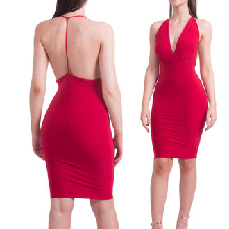 dress deep v dress backless dress pencil dress sexy summer dress